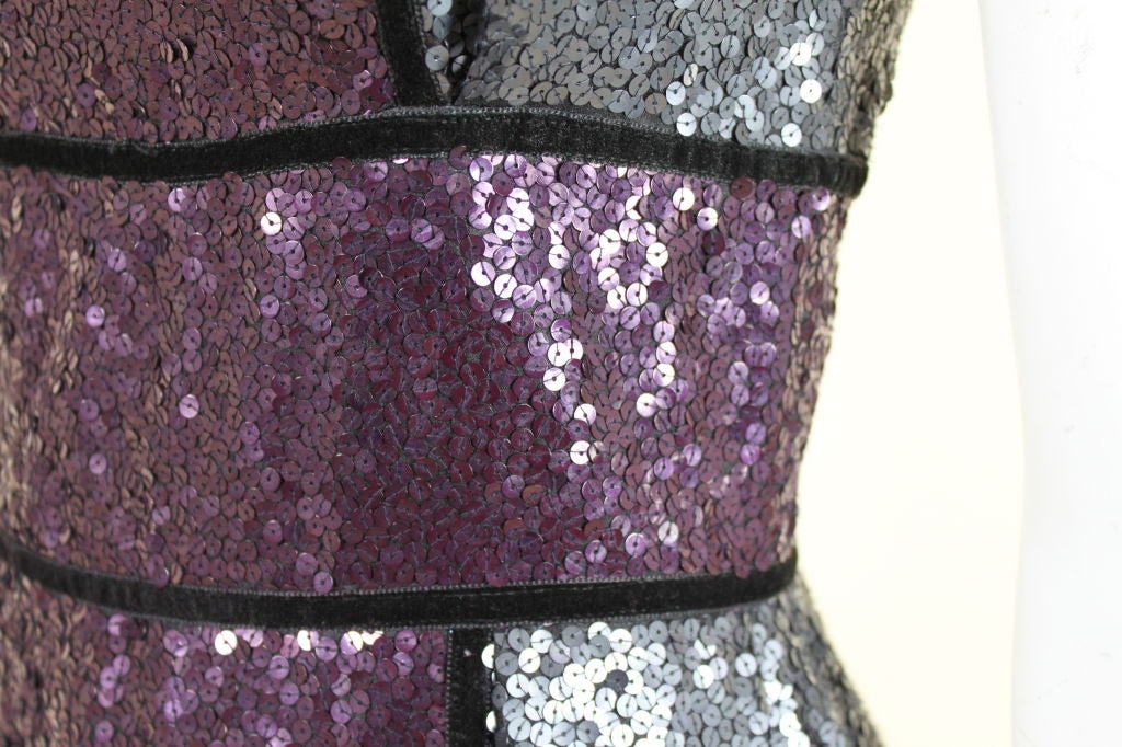 Naeem Khan Color-Block Sequined Party Dress 7