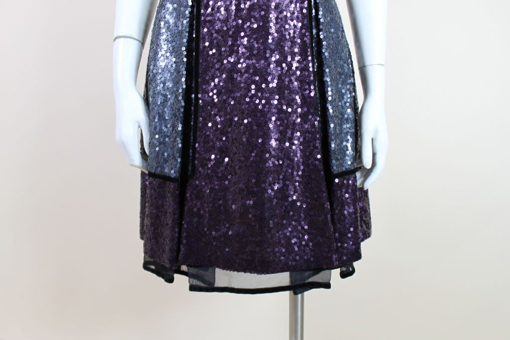 Naeem Khan Color-Block Sequined Party Dress 8