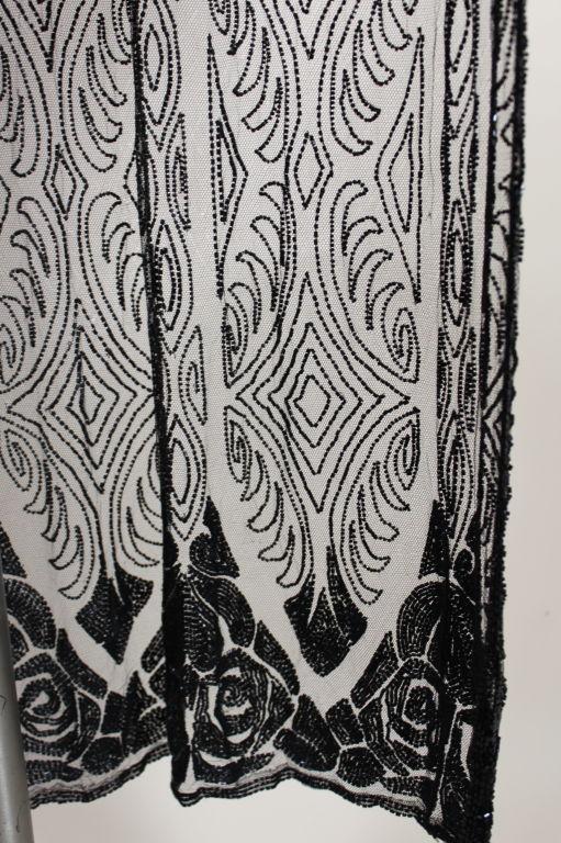 1920's Beaded Silk Net Art Deco Gown 10