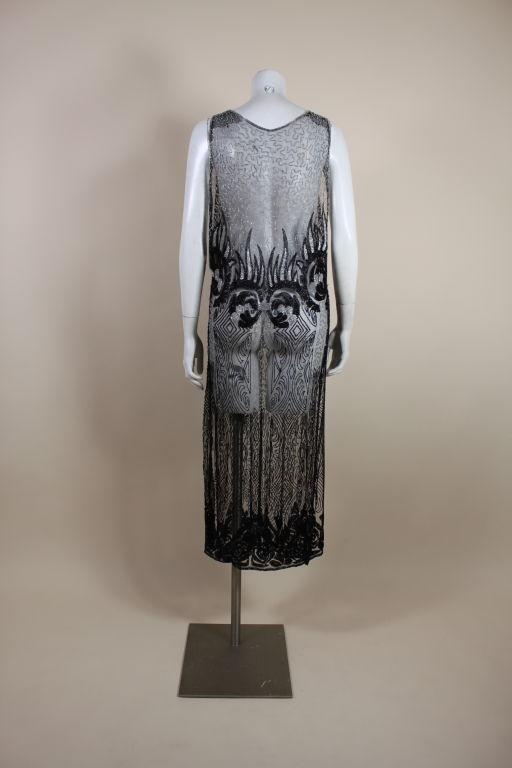 1920's Beaded Silk Net Art Deco Gown 5