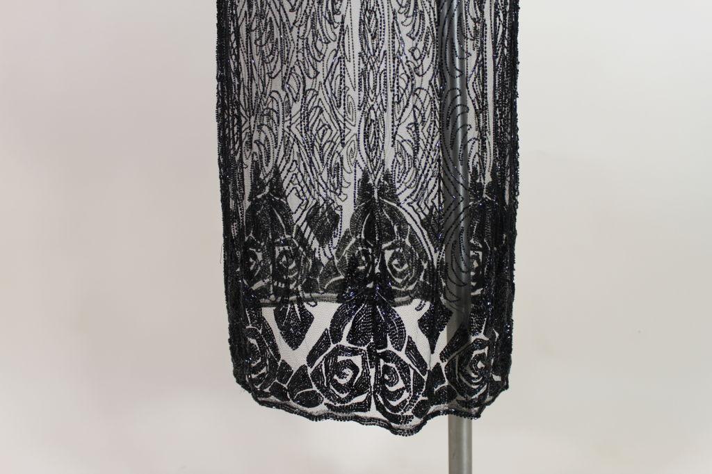 1920's Beaded Silk Net Art Deco Gown 7