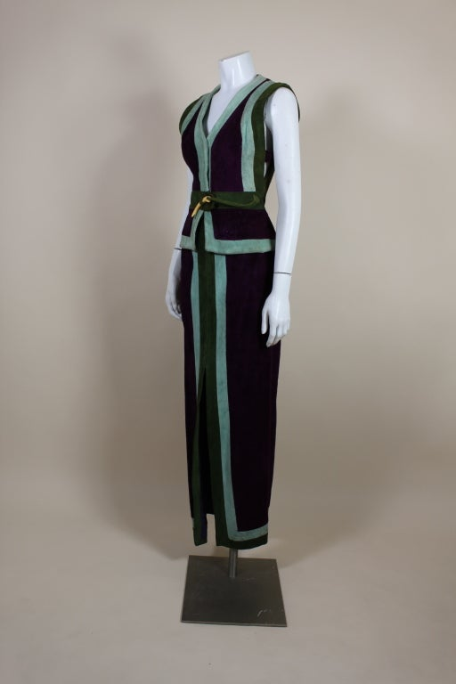 1970's Sant Angelo Suede Color Block Ensemble 4