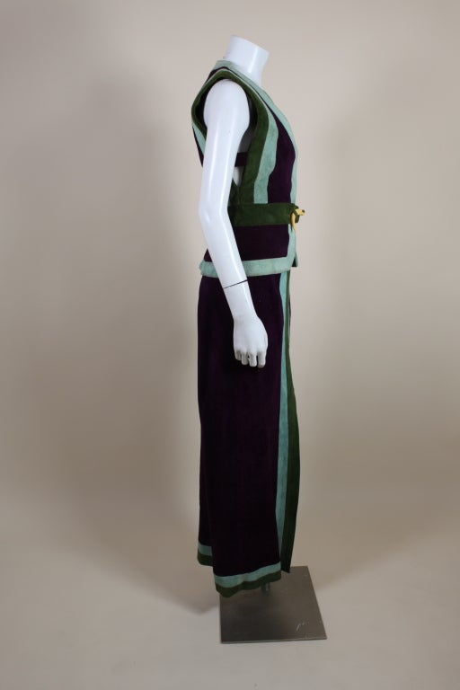 1970's Sant Angelo Suede Color Block Ensemble 5