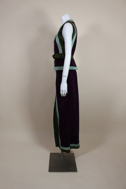 1970's Sant Angelo Suede Color Block Ensemble 6