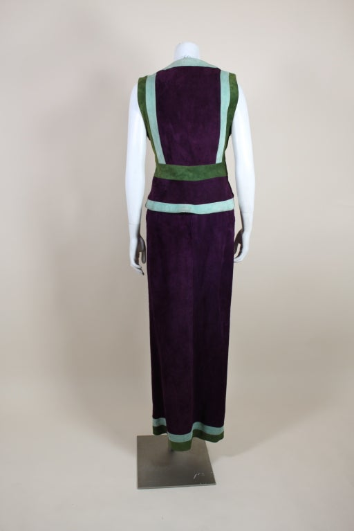 1970's Sant Angelo Suede Color Block Ensemble 7