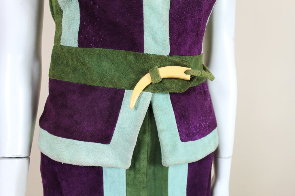 1970's Sant Angelo Suede Color Block Ensemble 8