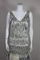 1960s Galanos Beaded Gown with Feather Fringe thumbnail 5
