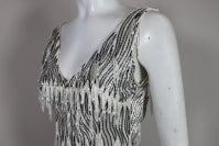 1960s Galanos Beaded Gown with Feather Fringe thumbnail 6