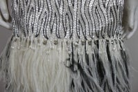 1960s Galanos Beaded Gown with Feather Fringe thumbnail 8