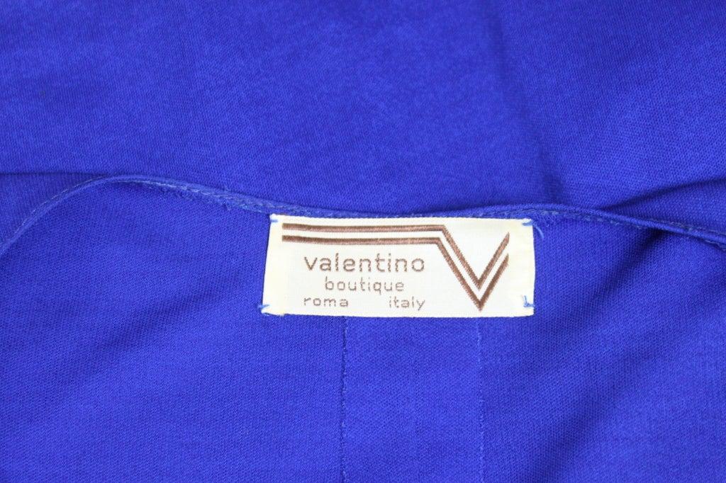 Valentino 1940's Inspired Sapphire Blue Beaded Jersey Dress 10