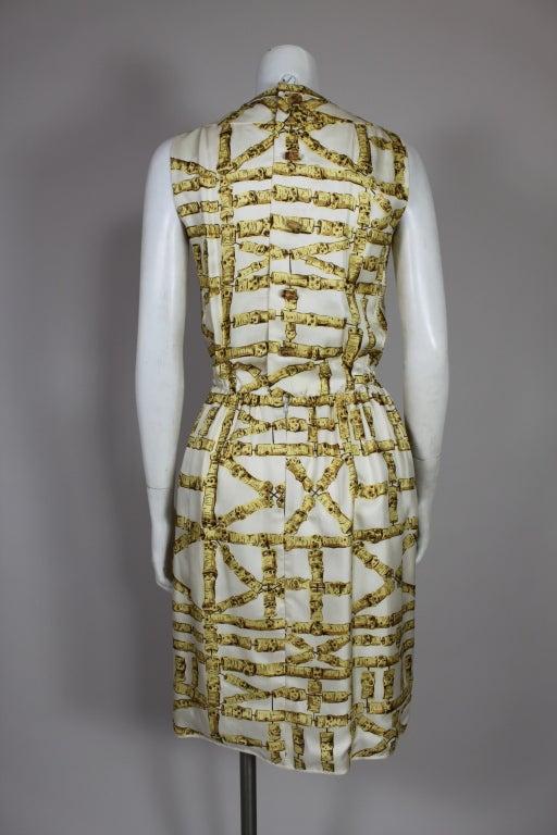 1960's Donald Brooks Bamboo Print Silk Dress with Jacket 5