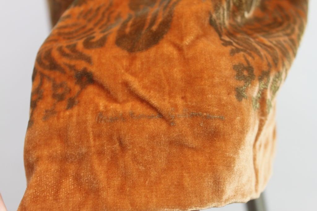 1920's Gallenga Stenciled Silk Velvet Coat 10