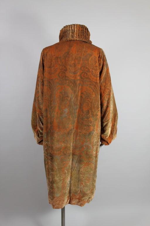 1920's Gallenga Stenciled Silk Velvet Coat 5