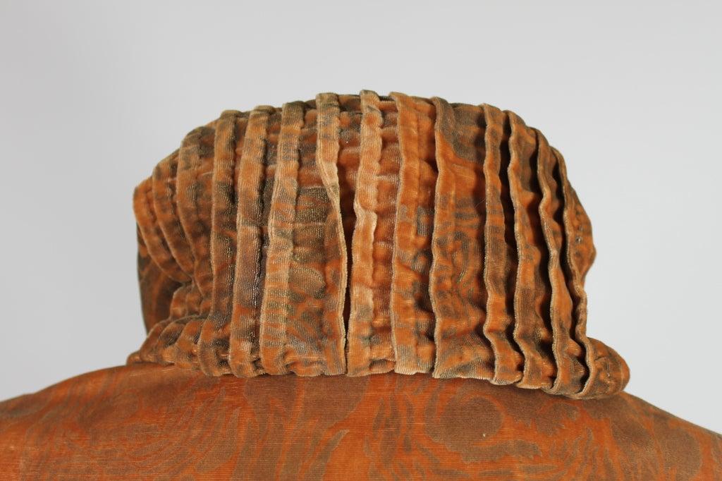 1920's Gallenga Stenciled Silk Velvet Coat 7