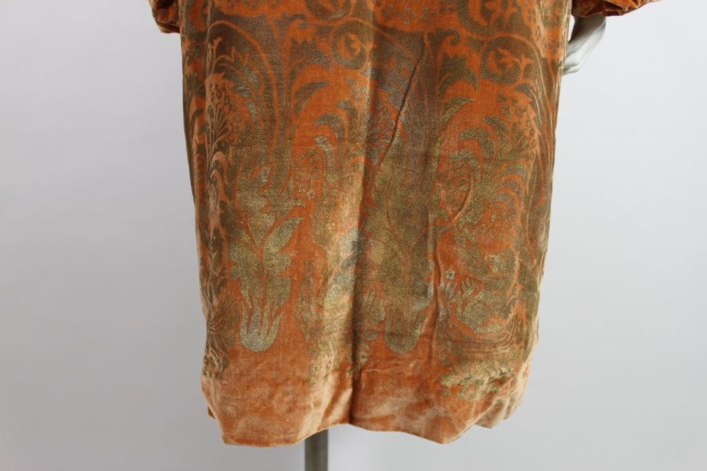 1920's Gallenga Stenciled Silk Velvet Coat 9