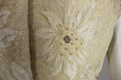 1960's Embellished Cream Soutache Lace Cocktail Dress thumbnail 10