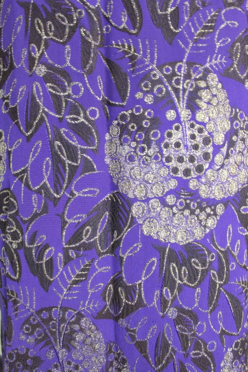 1920s Purple and Gold Lame Short Sleeve Coat 10