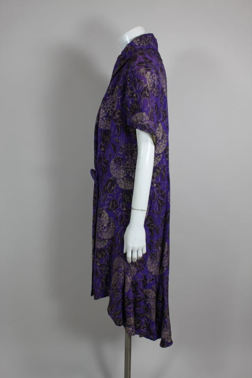 1920s Purple and Gold Lame Short Sleeve Coat 4