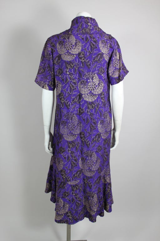 1920s Purple and Gold Lame Short Sleeve Coat 6
