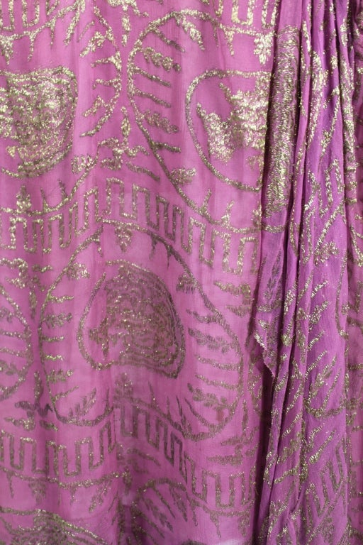 1920's Metallic Rose Pink Lamé Party Dress 9