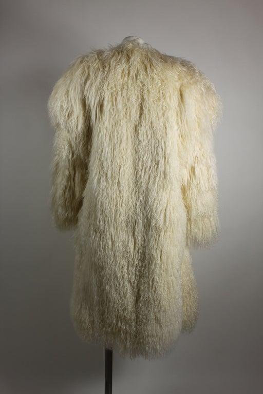 Sonia Rykiel Mongolian Lamb Coat At 1stdibs