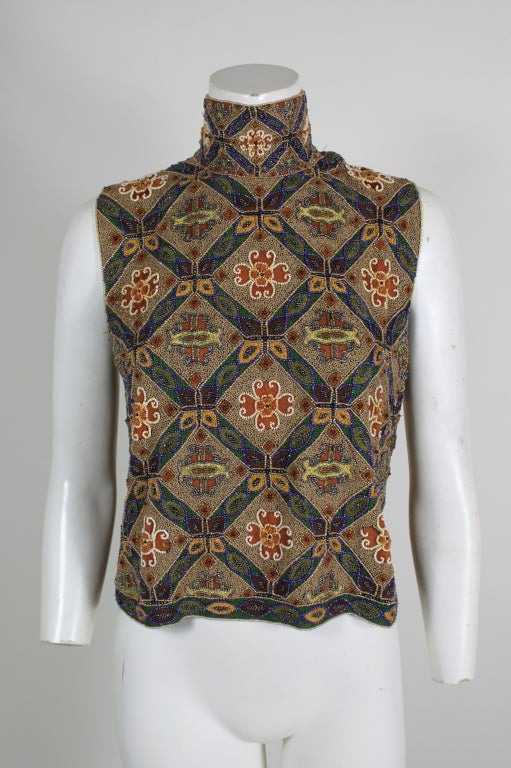 Laura Biagotti Beaded Blouse 2
