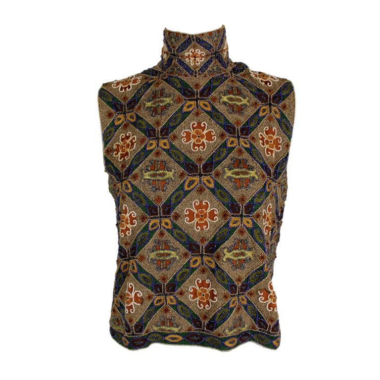 Laura Biagotti Beaded Blouse 1