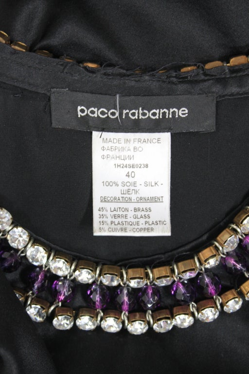 Paco Rabanne Blouse with Jewel Encrusted Collar & Belt 7