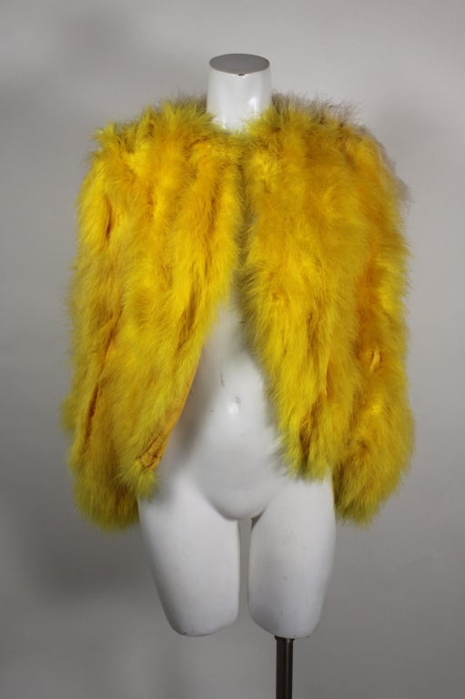 Dior Canary Yellow Maribou Jacket 2