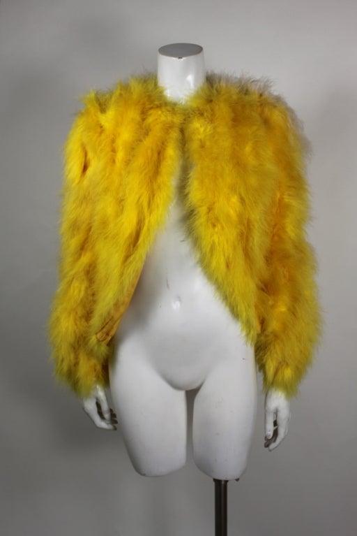 Dior Canary Yellow Maribou Jacket 3