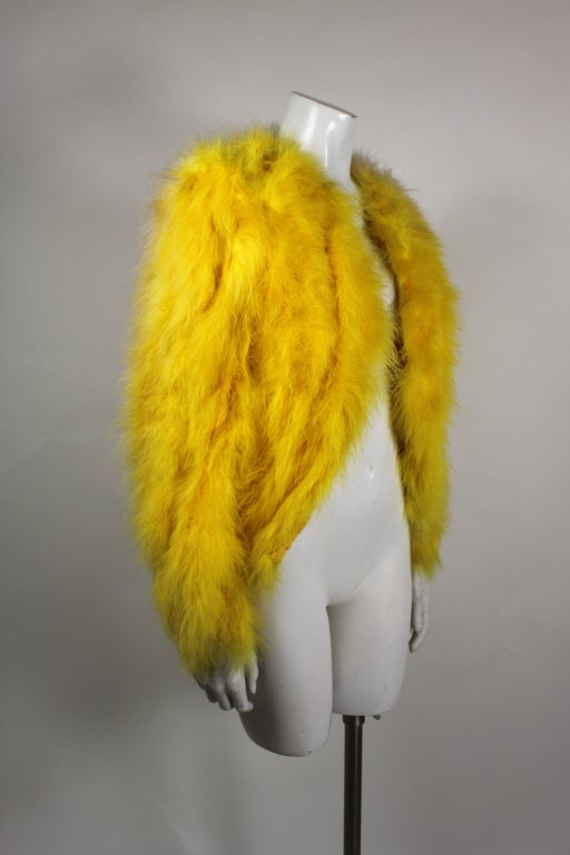 Dior Canary Yellow Maribou Jacket 4