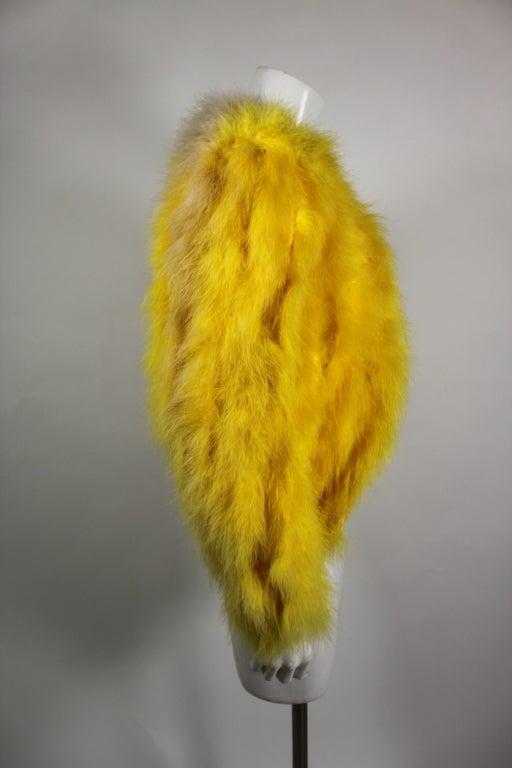 Dior Canary Yellow Maribou Jacket 5