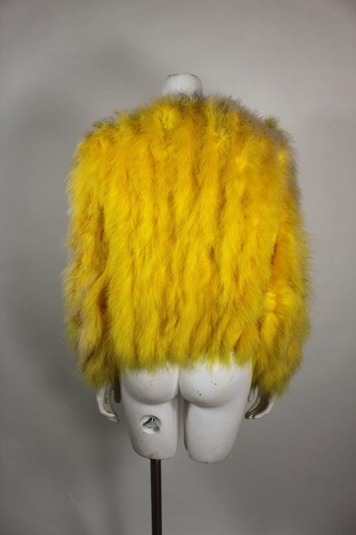 Dior Canary Yellow Maribou Jacket 6