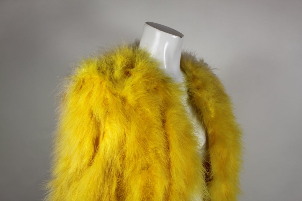 Dior Canary Yellow Maribou Jacket 7