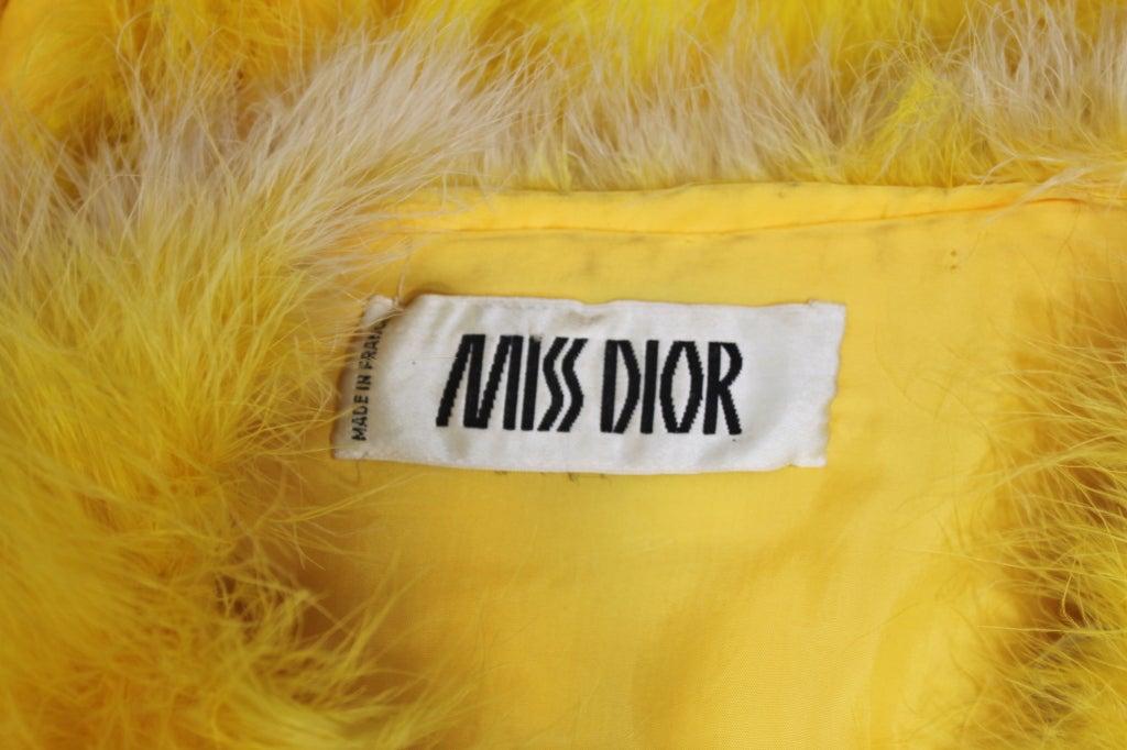 Dior Canary Yellow Maribou Jacket 8