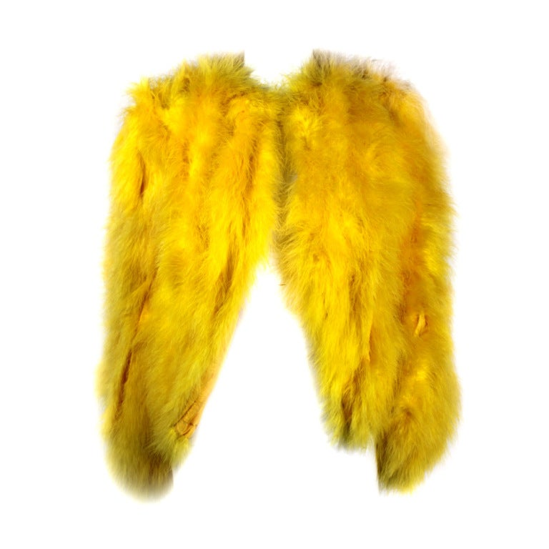 Dior Canary Yellow Maribou Jacket 1