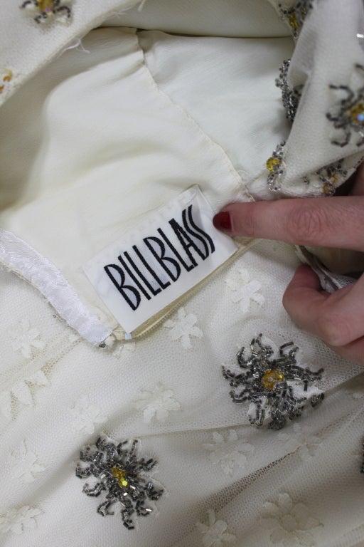 Blass 1960s White Lace Mini Dress with Starburst Beading 9