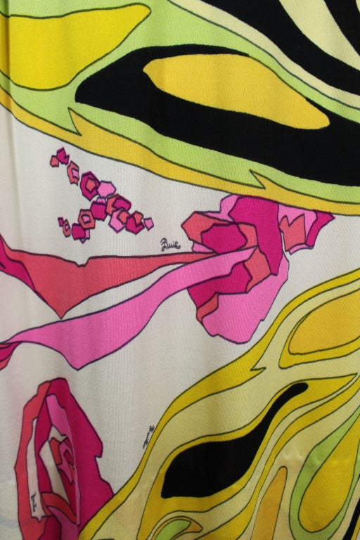Pucci Pink, Yellow, and Green Butterfly Print Mini Dress 7