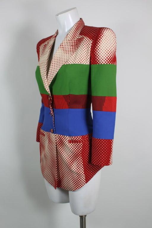 Iconic Jean Paul Gaultier Vintage Portraits Mesh Dress