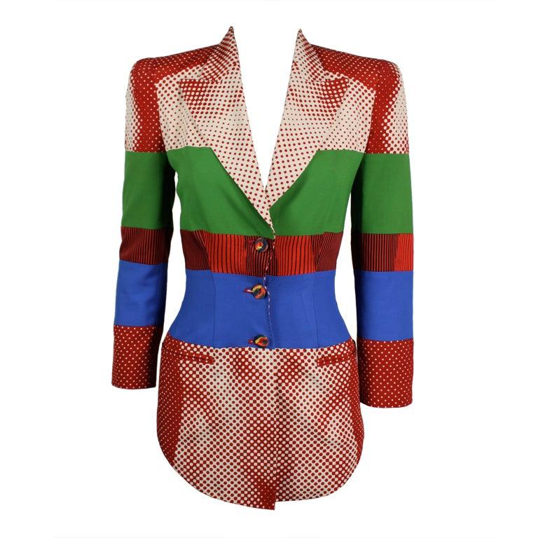 Jean Paul Gaultier Body Illusian Graphic Blazer at 1stdibs