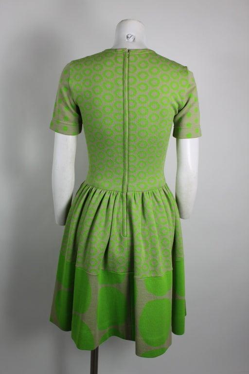 Rudi Gernreich Neon Green & Grey Dress 4