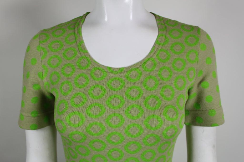 Rudi Gernreich Neon Green & Grey Dress 5