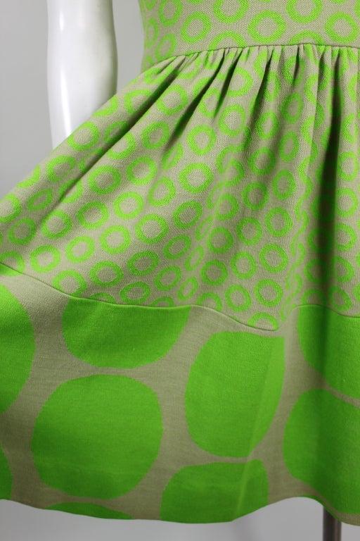 Rudi Gernreich Neon Green & Grey Dress 6