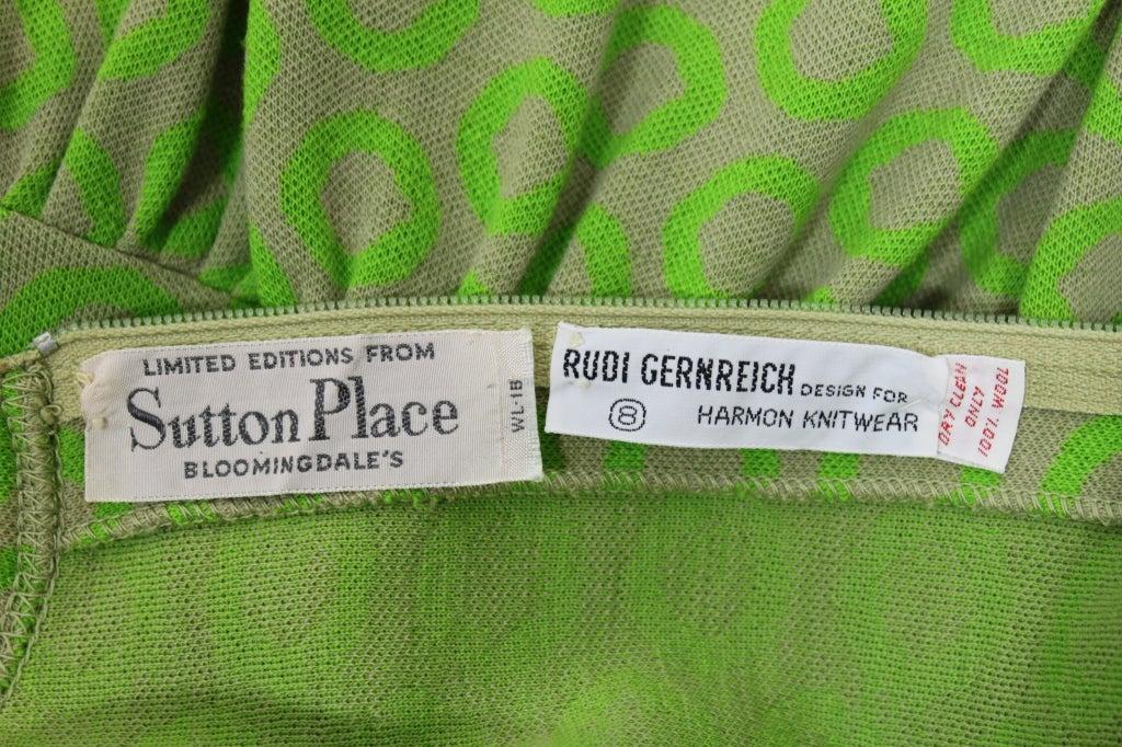 Rudi Gernreich Neon Green & Grey Dress 7