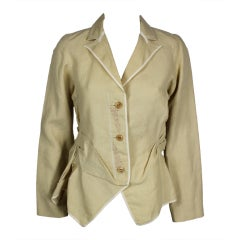 Girbaud 1990s Sandy Deconstructed Tailored Jacket