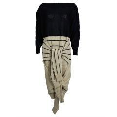 Castelbajac 1980s Avant-Garde Double Sleeve Sweater Dress