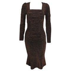 Vivienne Westwood Bronze Lurex Ruched Dress