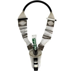 Punk Inspired Woven Metal and Plastic Glostick Necklace