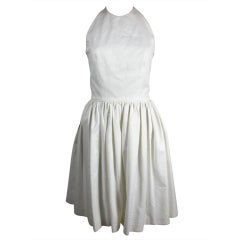 Gucci Flirty White Pique Halter Dress