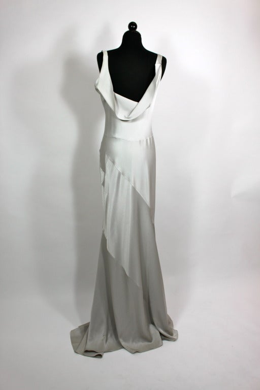 John Galliano Pewter Bias Gown 2